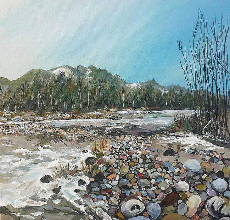 Nooksack River in winter, Washington State.